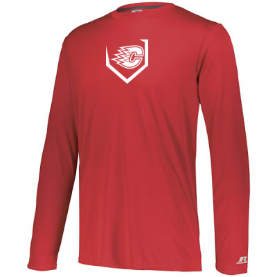 Russell Athletics - DRI-Power Core Performance Long Sleeve Tee - Screen Print Logo Thumbnail