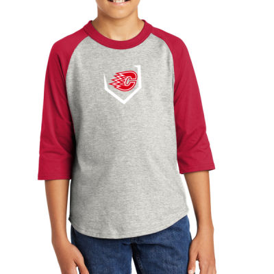 Sport-Tek ® - Youth Colorblock Raglan Jersey - Screen Printed Logo Thumbnail